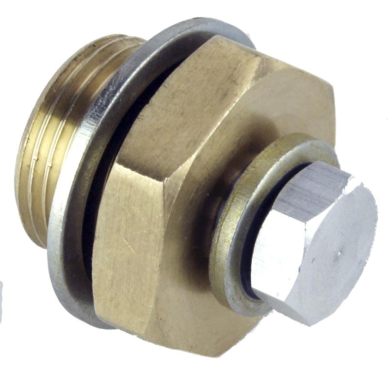 Brass Adapter M20 - M10 x 1mm With Plug
