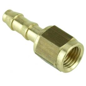 """Picture of 7/16"""" UNF Female Brass Union With 8mm Hosetail"""