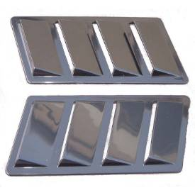 Picture of Self Adhesive Moulded ABS Side Vents Black 230mm