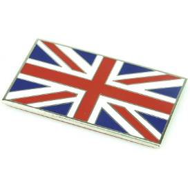 Picture of Chrome Enamel Red White and Blue Union Jack Emblem
