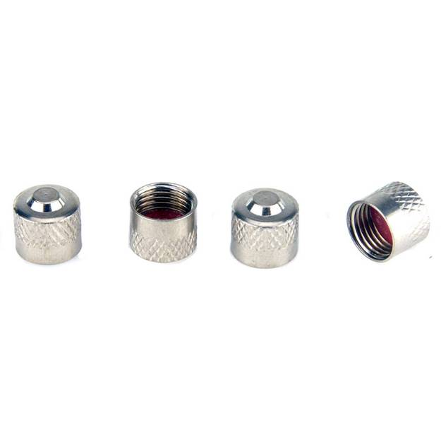 Picture of Chrome Brass Dust Caps Pack Of 4