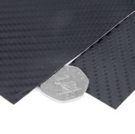Picture of Carbon Fibre Effect Textured Vinyl Wrap Self Adhesive Per Metre