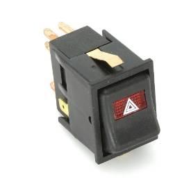Picture of Black IVA Rocker Switch Red Hazard