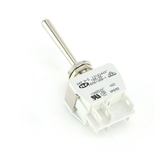 Picture of Knurled Ring LONG  Toggle Switch on/off/on Double Pole