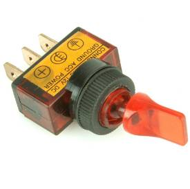 Picture of Illuminated Red Paddle Toggle Switch On/Off