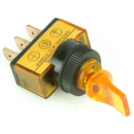 Picture of Illuminated Amber Paddle Toggle Switch On/Off