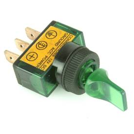 Picture of Illuminated Green Paddle Toggle Switch On/Off