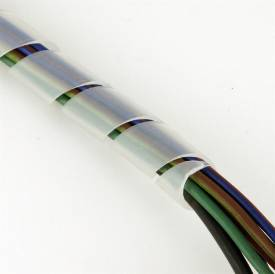 Bild von Weißes Spiralkabelbindemittel für 9 - 20 mm pro Meter