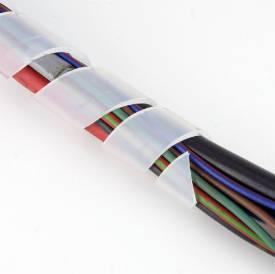 Bild von Weiße Spiralkabelbindung groß für 18 - 40 mm pro Meter