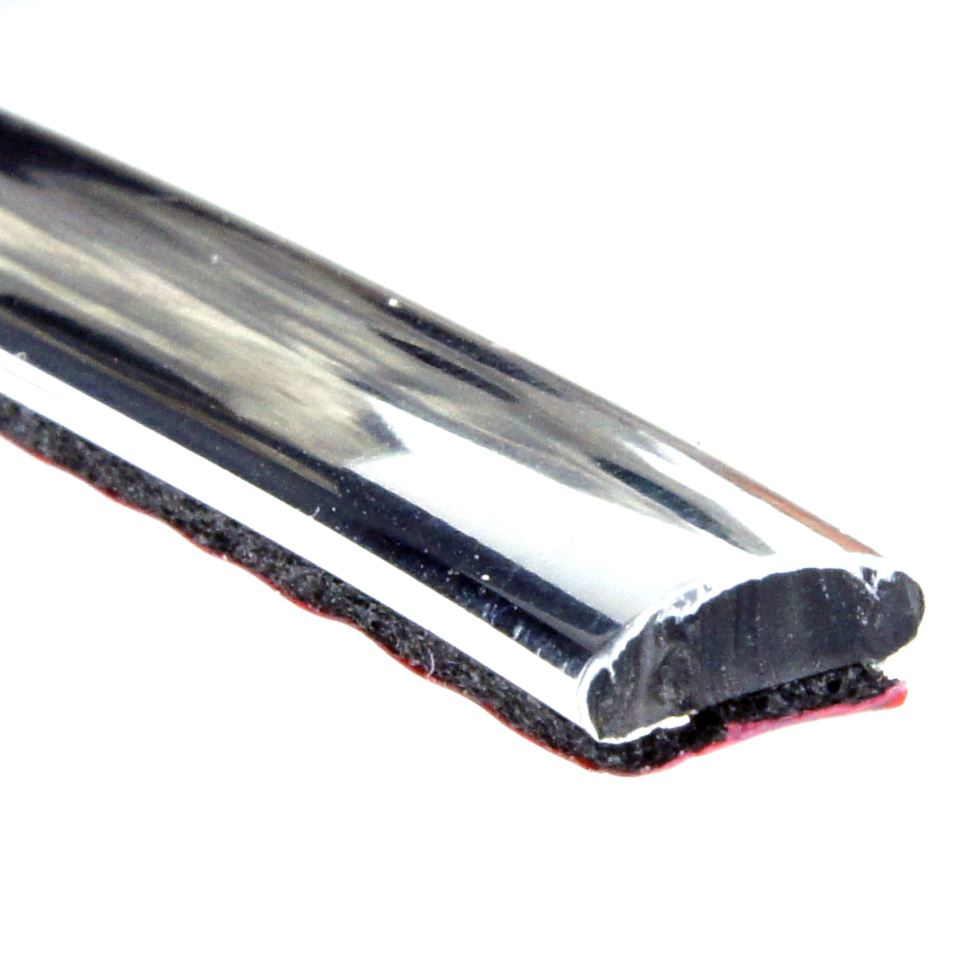 8mm X 3mm Chrome Flat Trim Per Metre Car Builder Solutions