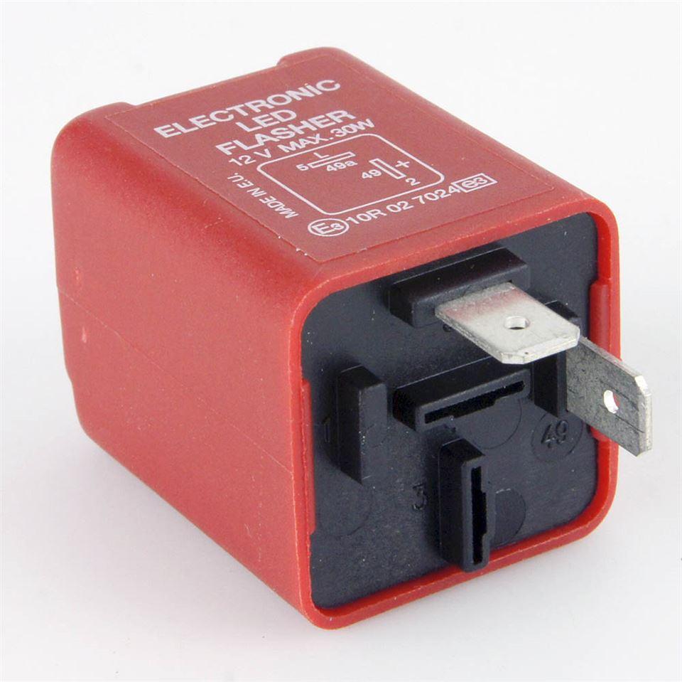 Red pin led flasher relay watt max car builder