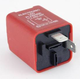 Picture of Red 2 Pin LED Flasher Relay 30 Watt Max