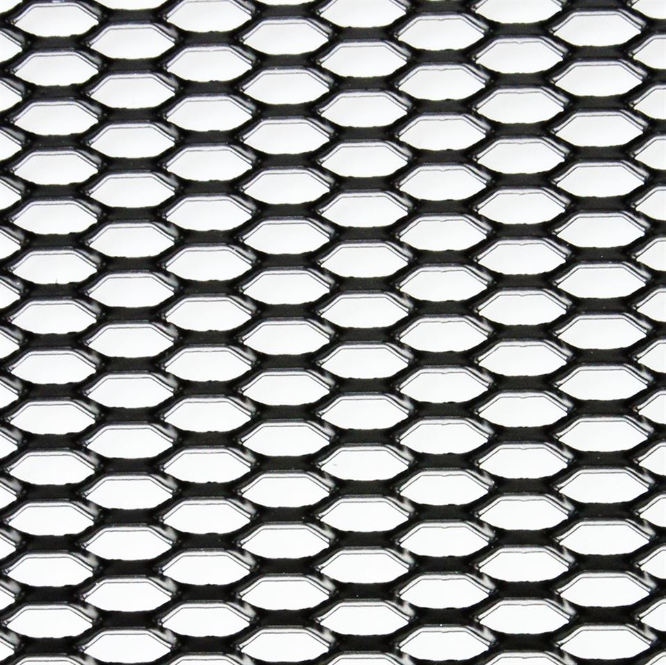 Satin Black Anodised Honeycomb Expanded Aluminium Mesh