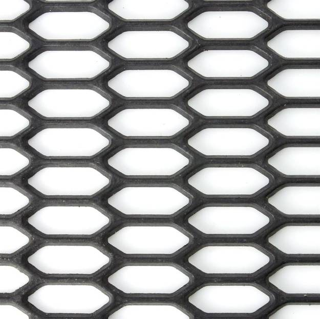 Picture of Black Moulded ABS Hex Mesh Large Sheet 1500mm x 300mm
