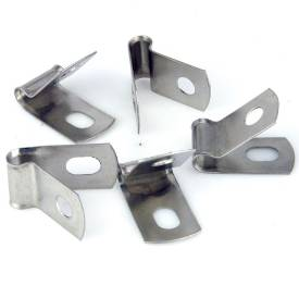 Picture of Vintage Style Unlined Wide Stainless Steel P-Clips 5mm Pack of 5