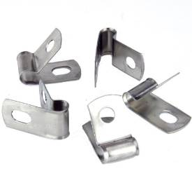 Picture of Vintage Style Unlined Wide Stainless Steel P-Clips 6mm Pack of 5