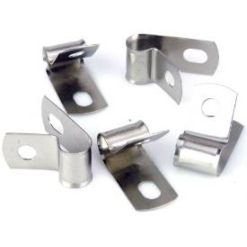 Picture of Vintage Style Unlined Wide Stainless Steel P-Clips 10mm Pack of 5