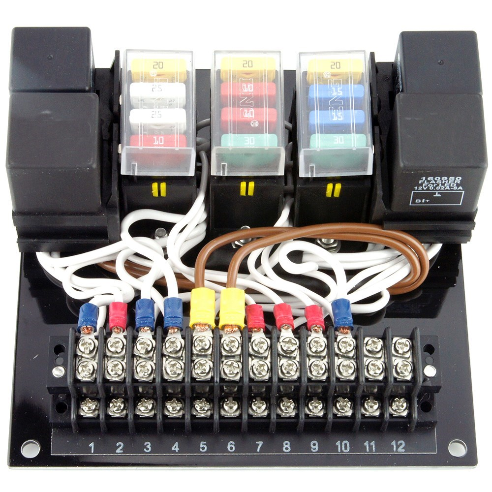 cbs 12 circuit wiring module car builder solutions kit car parts rh carbuildersolutions com kit car headlight wiring diagram nokia car kit wiring diagram