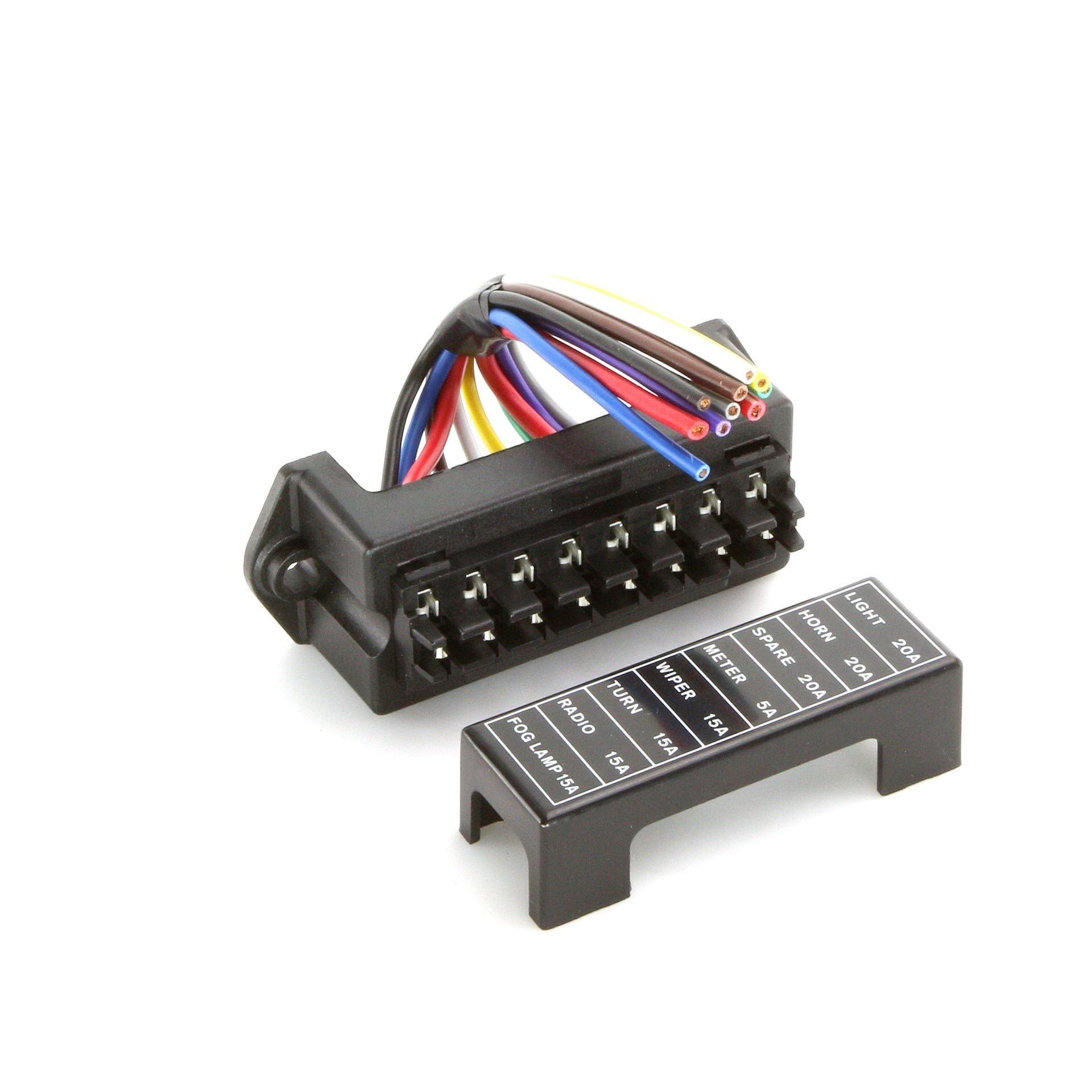 wired fuse box 8 way   car builder - kit & classic car parts specialist  car builder solutions