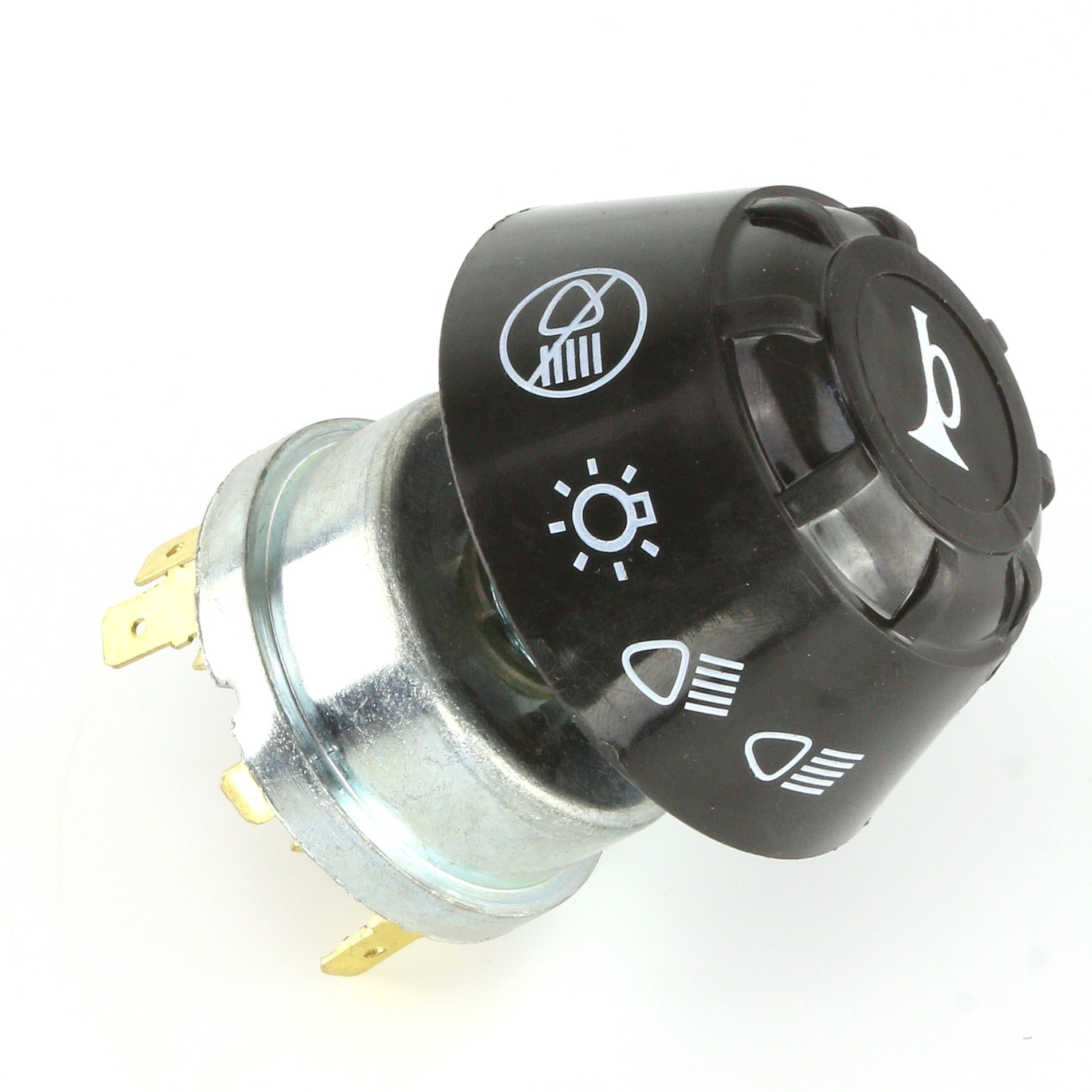 Black Large Rotary Headlamp And Horn Switch Car Builder