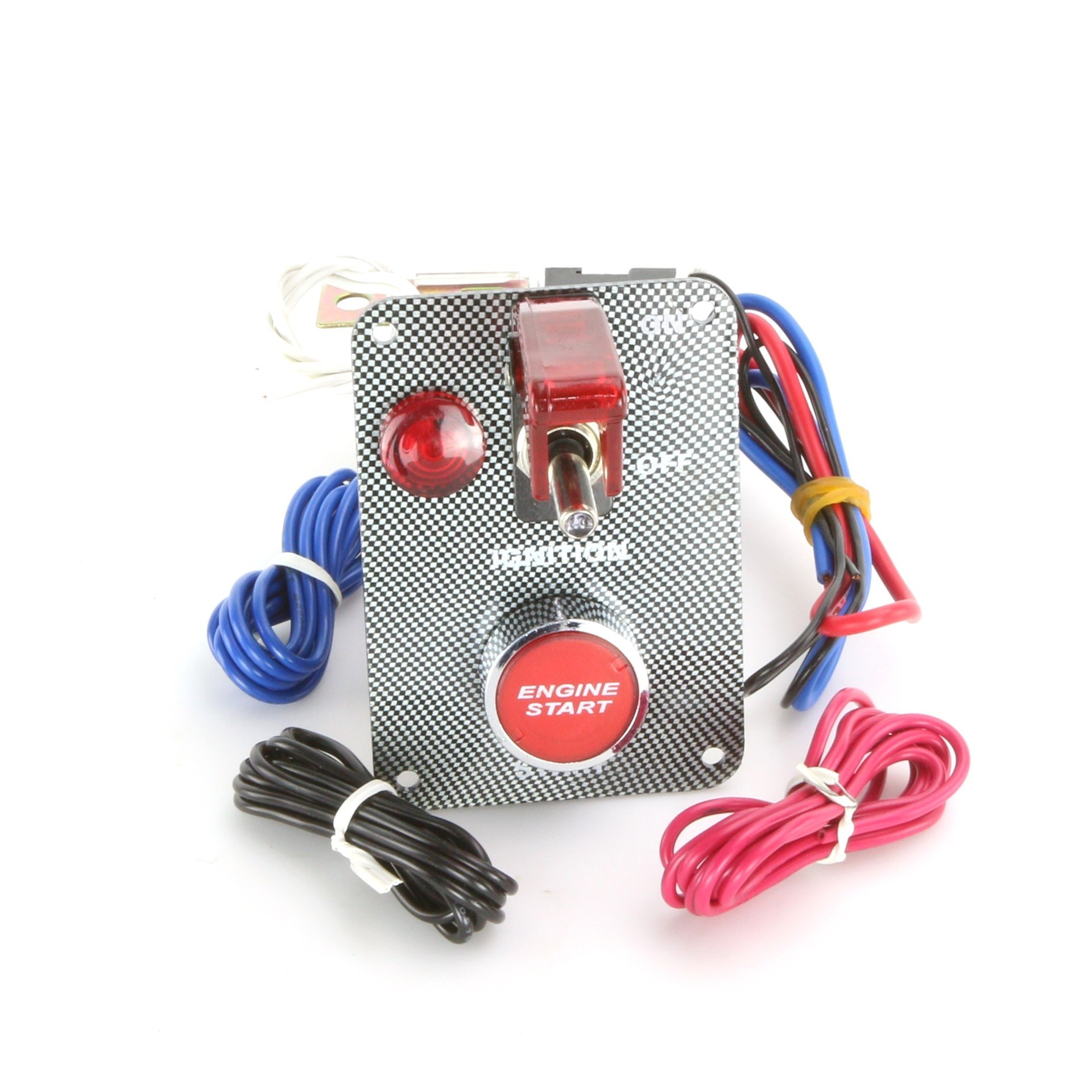Carbon Effect Engine Start Switch Panel With LED Toggle And Doomsday Cover