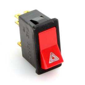 Picture of Hazard Rocker Red Switch With Black Body