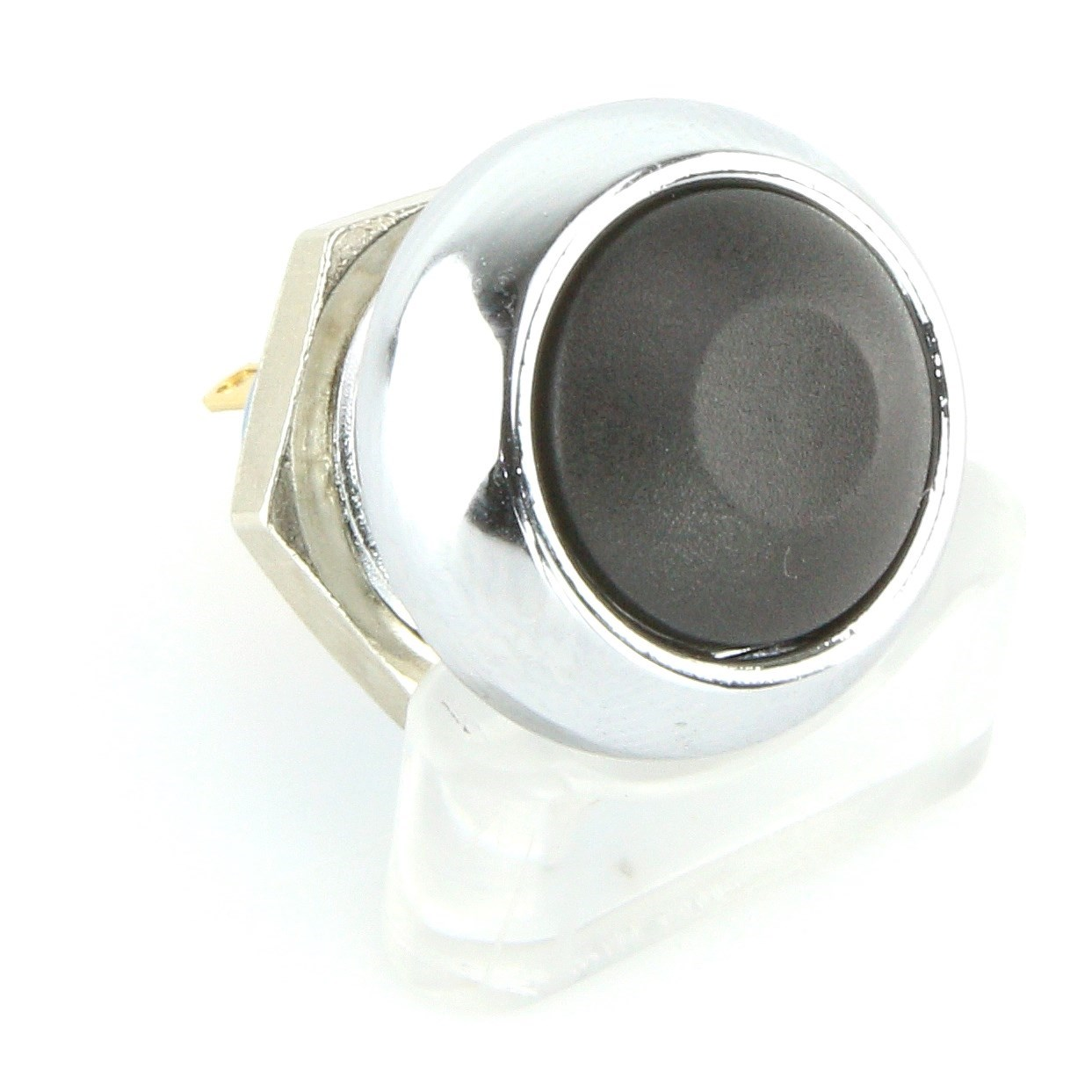 Momentary Push Button Switch Chrome Car Builder Solutions Kit Panel Mounted On Hazard