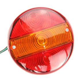 Picture of Hamburger Rear Lamps. Stop, Tail and Indicator 140mm Pair