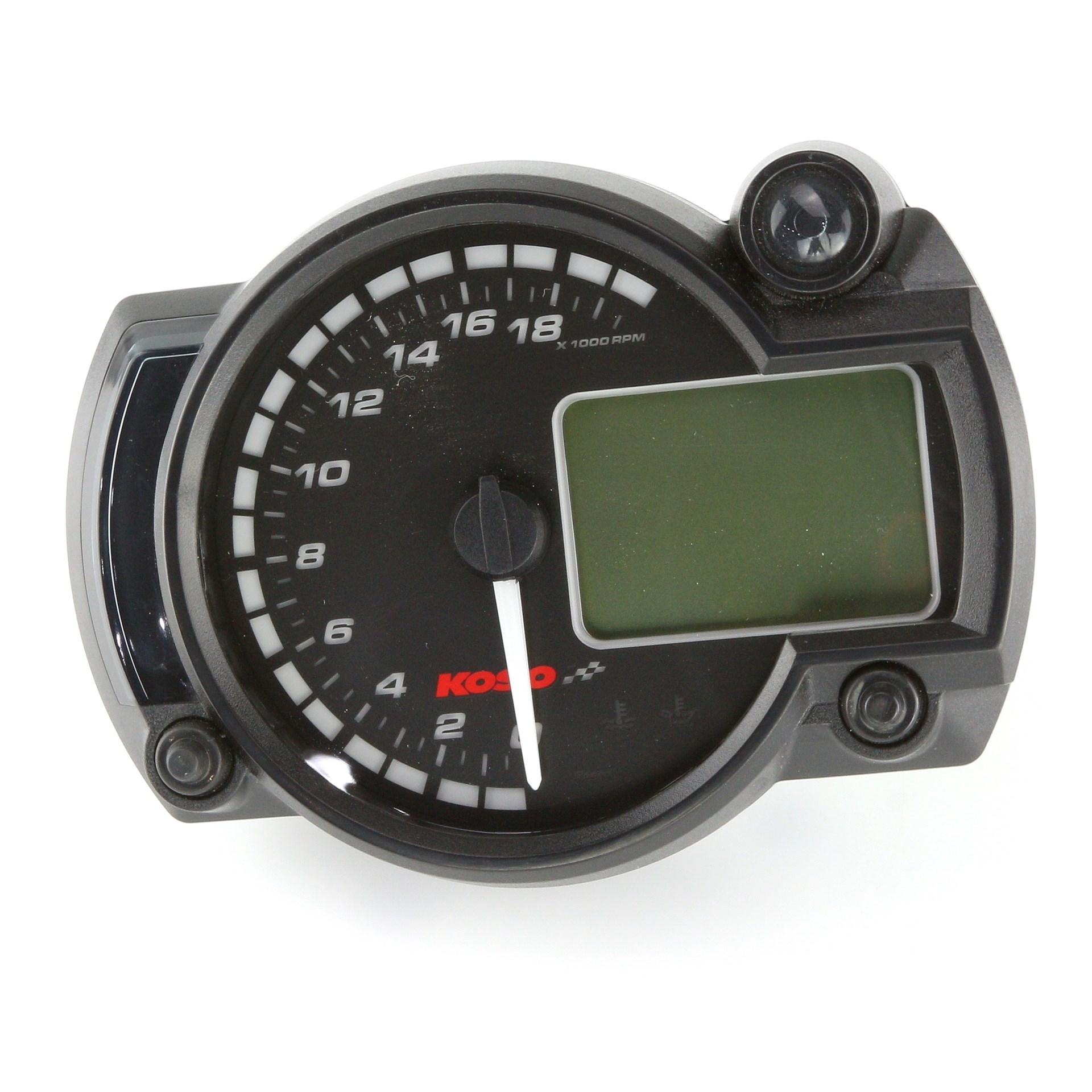 1 Stück Edelstahl Tankanzeige 12 V Motorrad LCD Multifunktions-Tacho