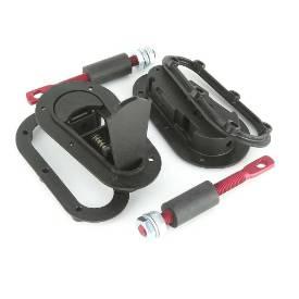 Picture of Flush Fitting AERO CATCH IVA OK Black Non Locking PAIR