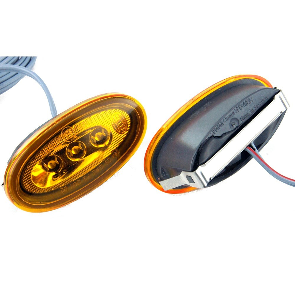 Hella Led Side Repeaters Amber 60mm Car Builder Solutions