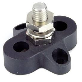 Bild von Schwarzer einzelner elektrischer Verbindungspfosten