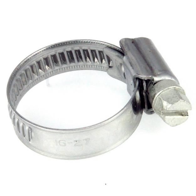 Picture of 16 - 27mm Edelstahlschlauchschelle mit schmalem Band, einzeln erhältlich