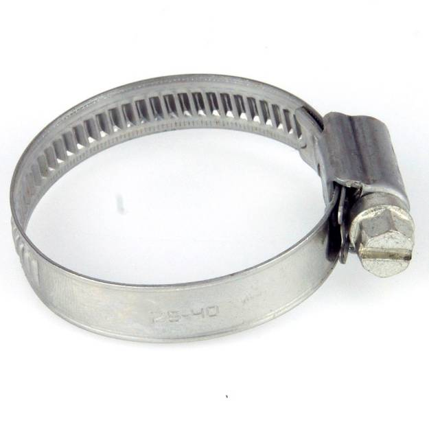 Picture of 25 - 40mm Edelstahlschlauchschelle mit schmalem Band, einzeln erhältlich