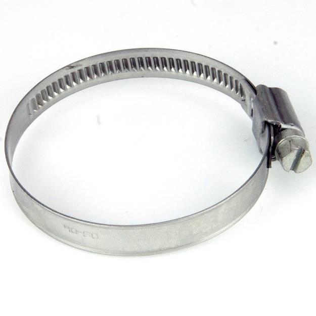 Picture of 40 - 60mm Edelstahlschlauchschelle mit schmalem Band, einzeln erhältlich