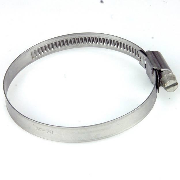 Picture of 50 - 70mm Edelstahlschlauchschelle mit schmalem Band, einzeln erhältlich