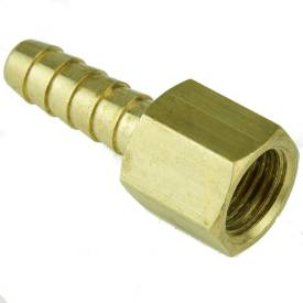 """Picture of 1/4"""" BSP Female Brass Union With 8mm Hosetail"""
