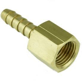 """Picture of 1/4"""" BSP Female Brass Union With 6mm Hosetail"""