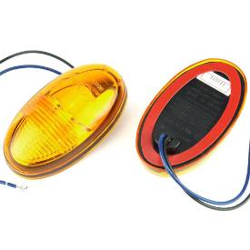 Picture of Amber Lens LED Side Repeaters 72mm