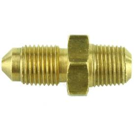 """Picture of Brass Adapter M10 x 1 Male to 1/8"""" NPT Male"""