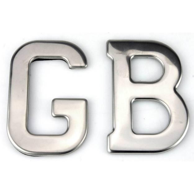 Picture of Gepresste Edelstahl GB Abzeichen