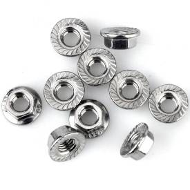 Picture of M5 Stainless Flange Nuts Pack Of 10