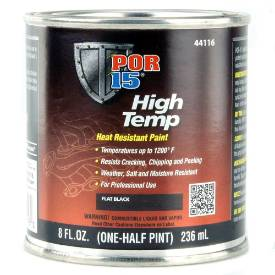 Picture of POR15 High Temperature Brush On Paint Flat Black 236ml