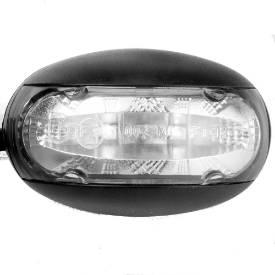 Picture of LED Domed Clear Lens Marker Light 'E'9 Marked White Light