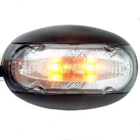 Picture of LED Domed Clear Lens Marker Light 'E'9 Marked Amber when lit