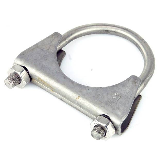 Picture of Stainless 'U' Exhaust Clamp 51mm