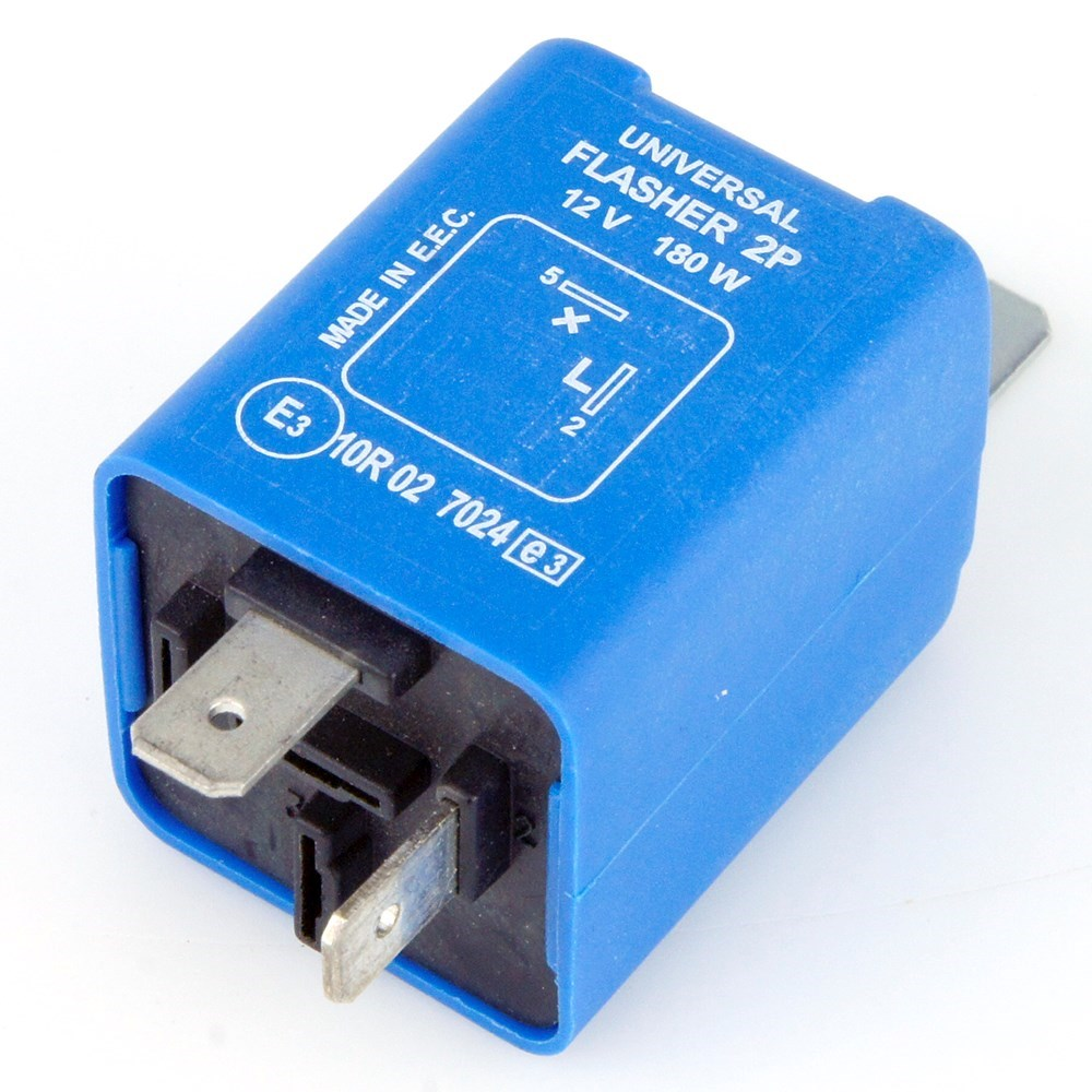 2 Pin Electronic Flasher Relay 180 Watt Max Car Builder Solutions 5 Universal 12 Volt