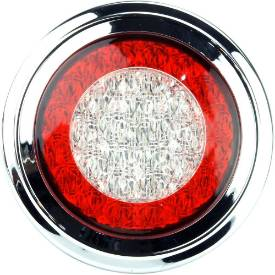 Picture of Flush Mount LED Stop Tail Indicator Rear Light with Chrome Bezel