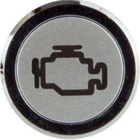 Bild von Unterputzblende Chrom LED-Warnleuchte MOTOR