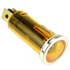 Picture of Small Chrome Bezel Amber Warning Light
